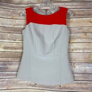 Banana Republic Peplum Sleeveless Top, Size 2